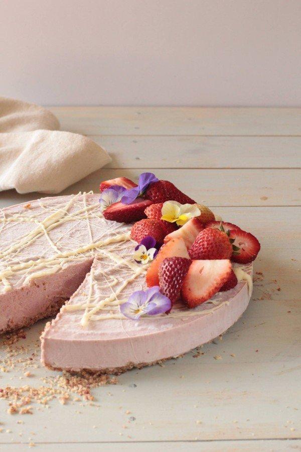 Torta Vegana de Frutillas