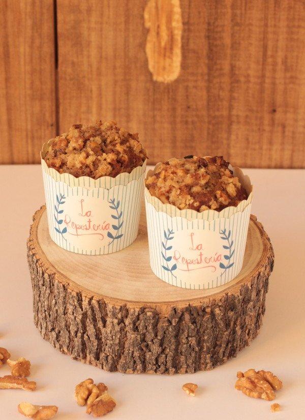 Muffins de plátano nuez