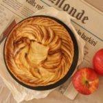Tarte aux pommes (Tarta de manzanas y canela)