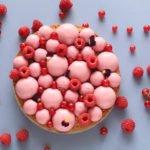 Torta helada de frambuesas y avellanas