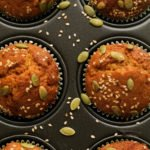 Autumn muffins with butternut